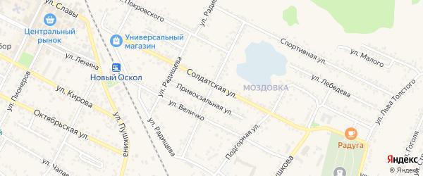 Красногвардейская улица на карте Нового Оскола с номерами домов