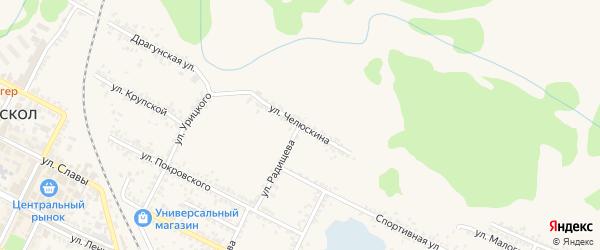 Улица Челюскина на карте Нового Оскола с номерами домов