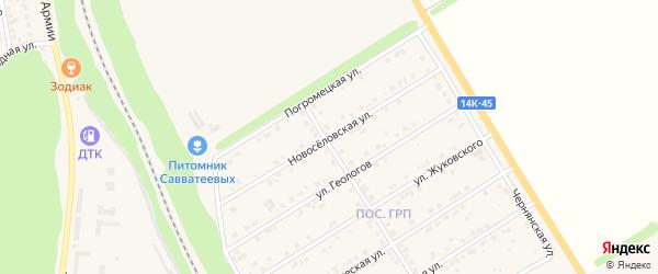 Новоселовская улица на карте Нового Оскола с номерами домов