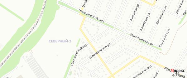 Николаевский переулок на карте Старого Оскола с номерами домов