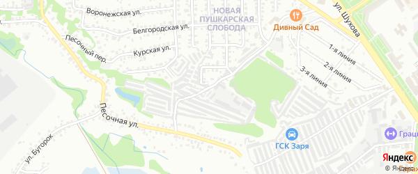Народная улица на карте Старого Оскола с номерами домов
