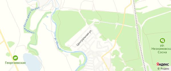 СТ Малявинка на карте Старооскольского района с номерами домов