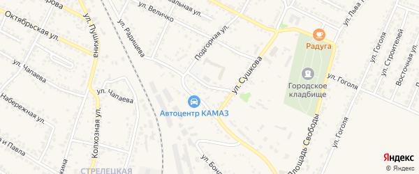 Улица Островского на карте Нового Оскола с номерами домов
