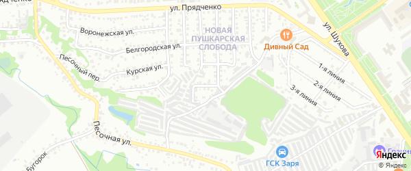 Народный переулок на карте Старого Оскола с номерами домов