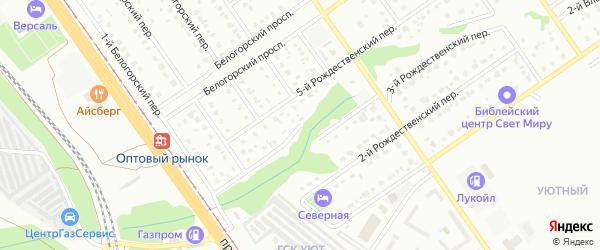 4-й Рождественский переулок на карте Старого Оскола с номерами домов