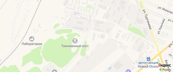 Кооперативный переулок на карте Нового Оскола с номерами домов