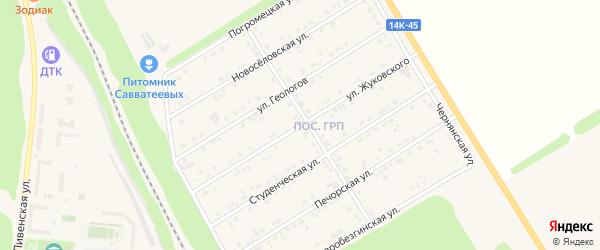 Улица Жуковского на карте Нового Оскола с номерами домов