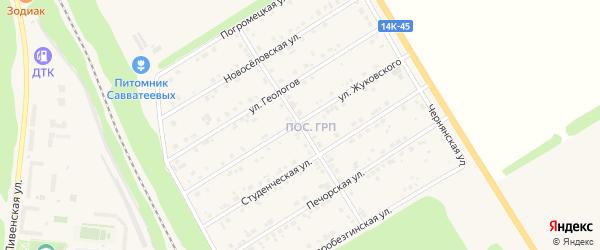 Центральная улица на карте Нового Оскола с номерами домов