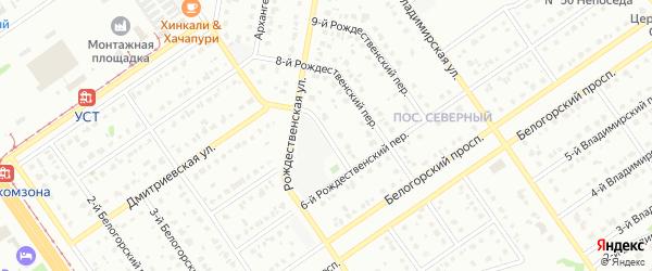 7-й Рождественский переулок на карте Старого Оскола с номерами домов