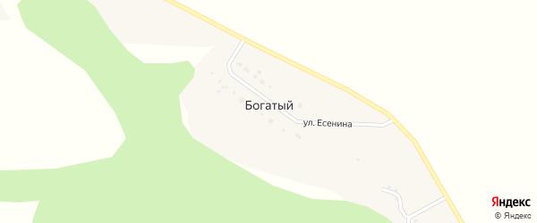 Улица Есенина на карте Богатого хутора с номерами домов