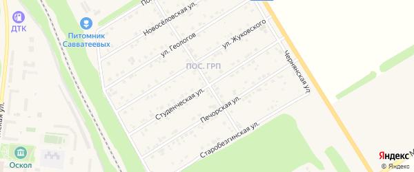 Студенческая улица на карте Нового Оскола с номерами домов