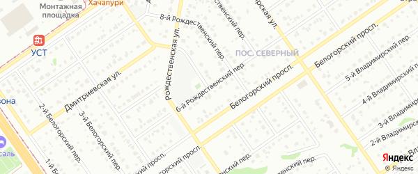 6-й Рождественский переулок на карте Старого Оскола с номерами домов