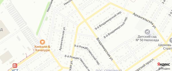 10-й Рождественский переулок на карте Старого Оскола с номерами домов