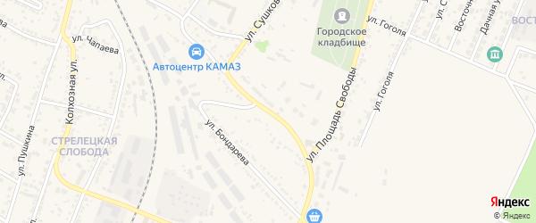 Кирзаводская улица на карте Нового Оскола с номерами домов