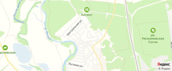 СТ Мичуринец на карте Старооскольского района с номерами домов