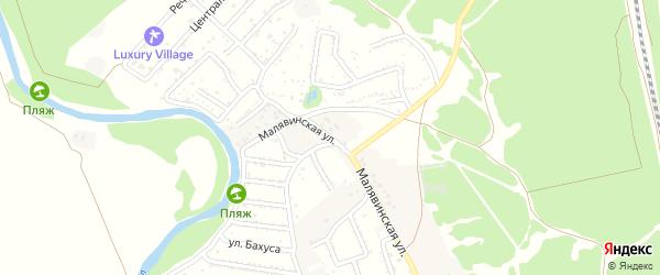 Малявинская улица на карте села Анпиловки с номерами домов