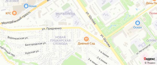 Подлесная улица на карте Старого Оскола с номерами домов