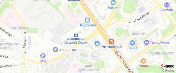 Улица Архитектора Бутовой на карте Старого Оскола с номерами домов