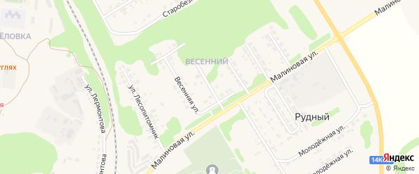 Весенняя улица на карте Нового Оскола с номерами домов