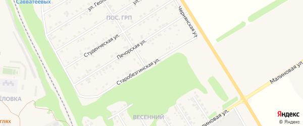 Старобезгинская улица на карте Нового Оскола с номерами домов