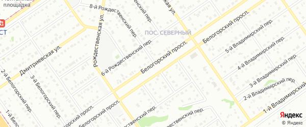 Белогорский проспект на карте Старого Оскола с номерами домов