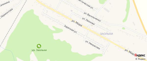 Заречная улица на карте Нового Оскола с номерами домов