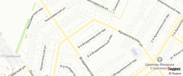 9-й Владимирский переулок на карте Старого Оскола с номерами домов