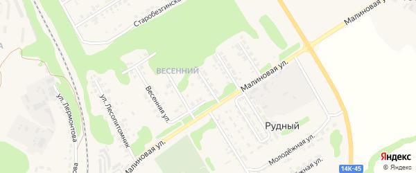 Улица Губкина на карте Нового Оскола с номерами домов