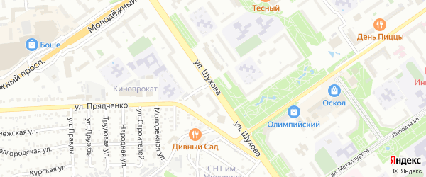 Улица Шухова на карте Старого Оскола с номерами домов