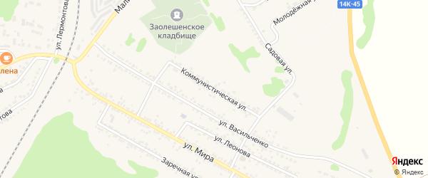 Коммунистическая улица на карте Нового Оскола с номерами домов