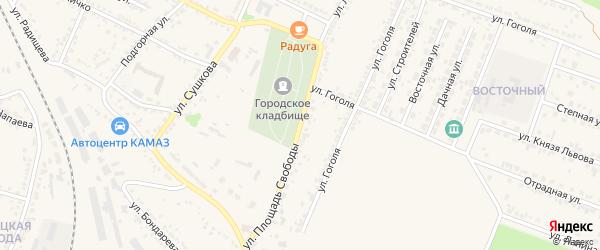 Площадь Свободы на карте Нового Оскола с номерами домов