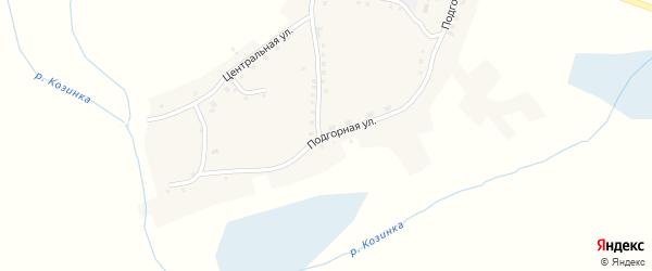 Подгорная улица на карте села Борки с номерами домов