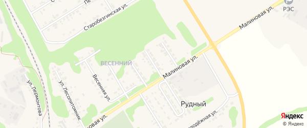 Улица Энтузиастов на карте Нового Оскола с номерами домов