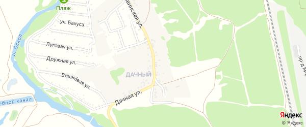 Дачная улица на карте села Сорокино с номерами домов