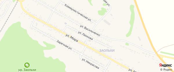 Улица Леонова на карте Нового Оскола с номерами домов