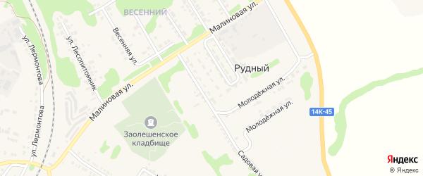 Садовая улица на карте Нового Оскола с номерами домов