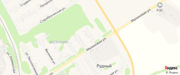 Лесная улица на карте Нового Оскола с номерами домов