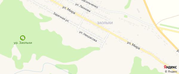 Улица Некрасова на карте Нового Оскола с номерами домов
