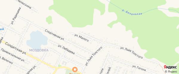 Улица Чернышевского на карте Нового Оскола с номерами домов