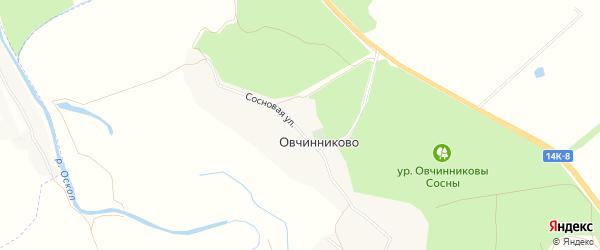 Карта села Овчинниково в Белгородской области с улицами и номерами домов