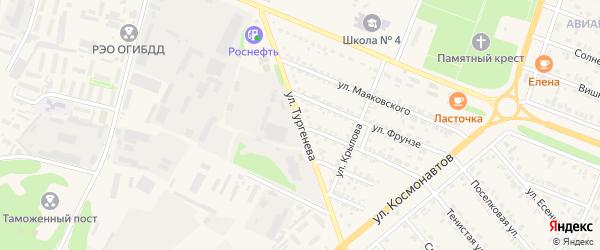 Улица Тургенева на карте Нового Оскола с номерами домов