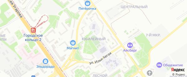 Юбилейный микрорайон на карте Старого Оскола с номерами домов