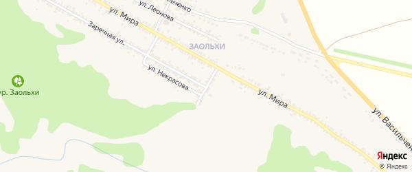 Заолешенский переулок на карте Нового Оскола с номерами домов