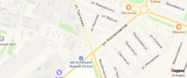 Полевая улица на карте Нового Оскола с номерами домов