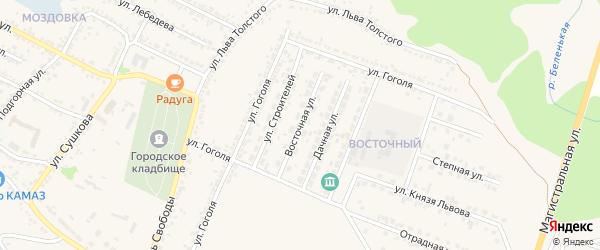 Восточная улица на карте Нового Оскола с номерами домов