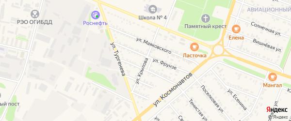 Улица Крылова на карте Нового Оскола с номерами домов