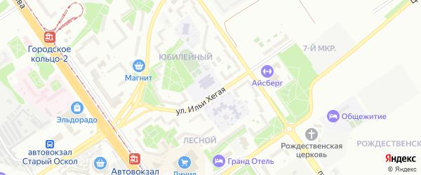 Проспект 60-летия Белгородской Области на карте Старого Оскола с номерами домов