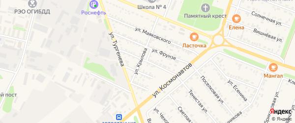 Коммунальная улица на карте Нового Оскола с номерами домов