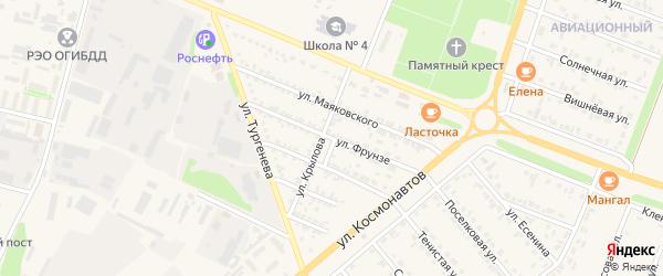 Улица Фрунзе на карте Нового Оскола с номерами домов