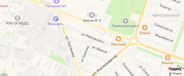 Улица Маяковского на карте Нового Оскола с номерами домов